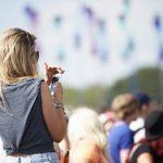 Instagram story at music festival